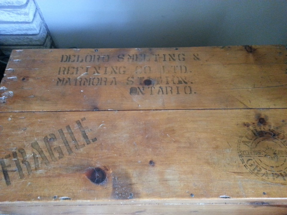 This packing crate was owned by John (Jack) and Olive Vincent from Beaver Creek. It's now owned by their Great Granddaughter, Lorilei Wells Mayhew, who submitted the photo.