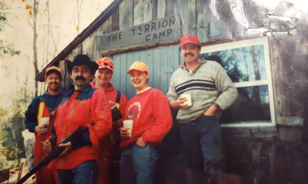 tERRION'S CAMP ON THE BEAVER CREEK          GONE BUT NOT FORGOTTEN  wITH tIM lOVELESS, pAT CLEMENS, gREG tRRION,  TODD ELLIS AND pAUL cLEMENS