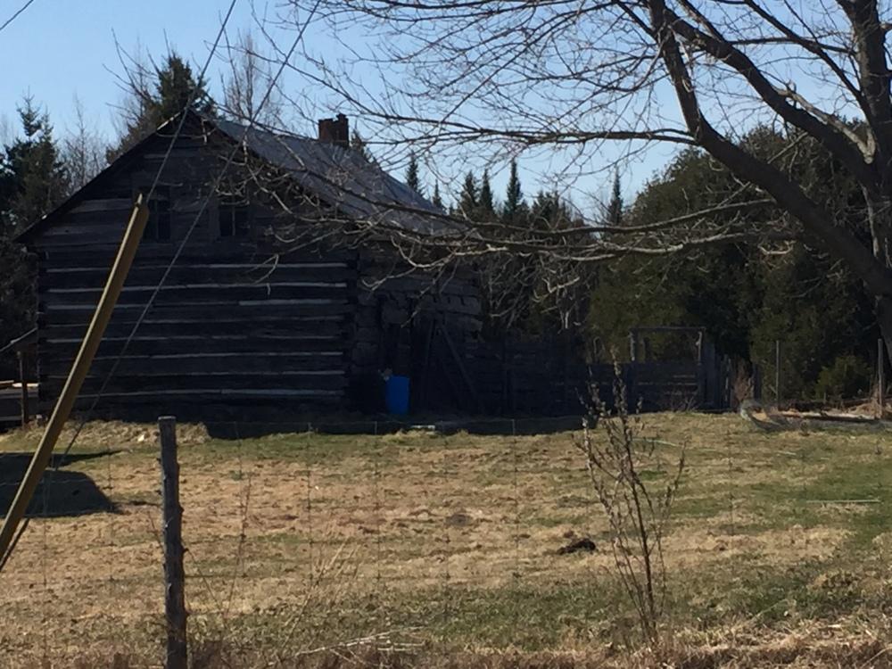 Settler's cabin 2121 Centre LIne Road
