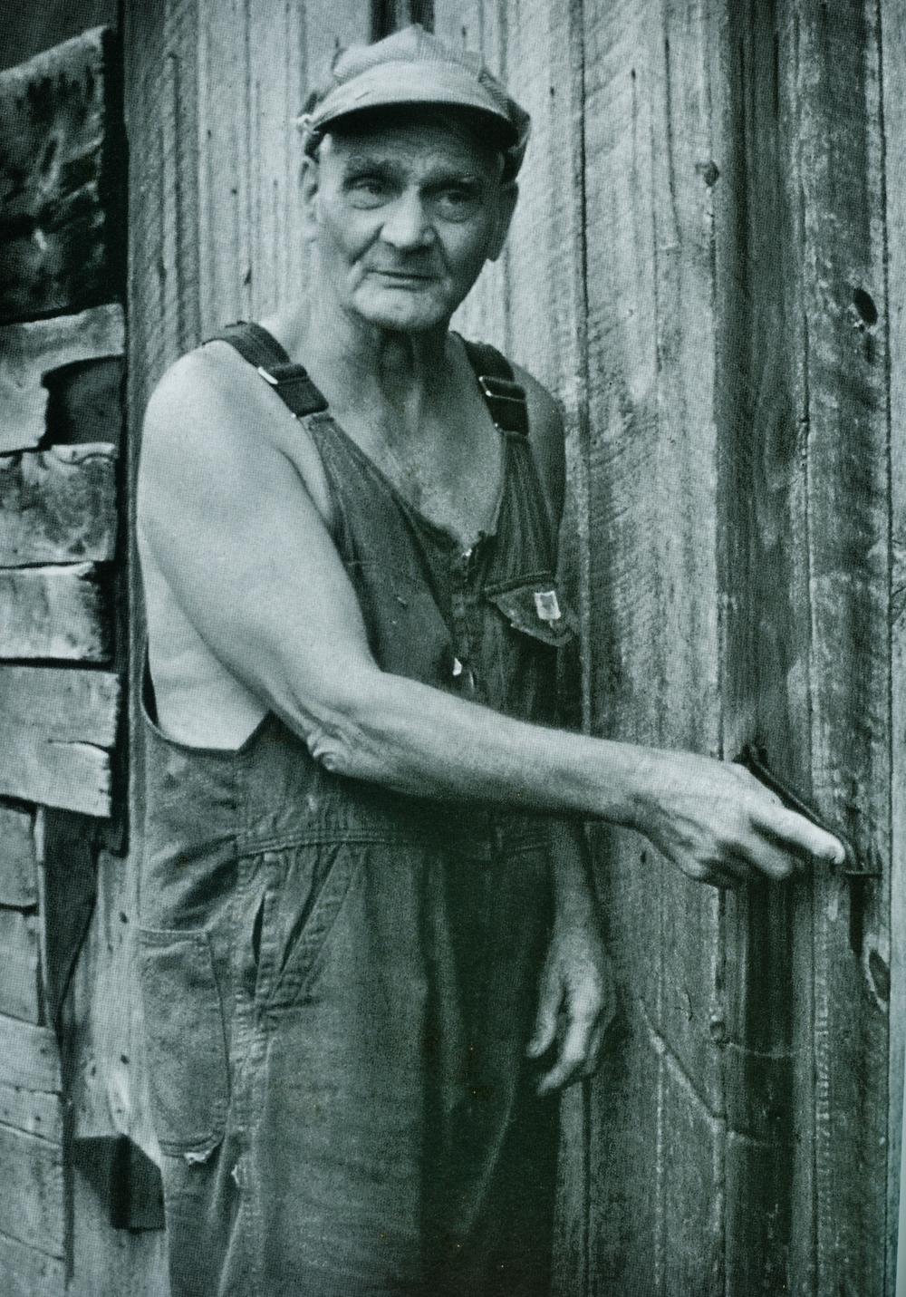 "Photo of George Cocayne,  borrowed from ""This Other Eden,  Canadian Folk Art Outdoors""  by Phil Tilney,  1999"