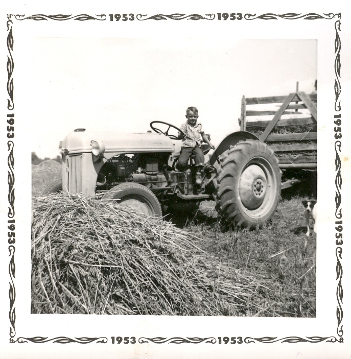 1953  Tom O'Neill on Tom McKinnon's Tractor