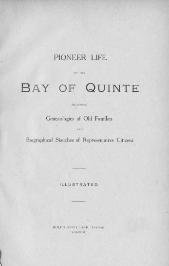 Pioneer Life on the Bay of Quinte 1904.jpg