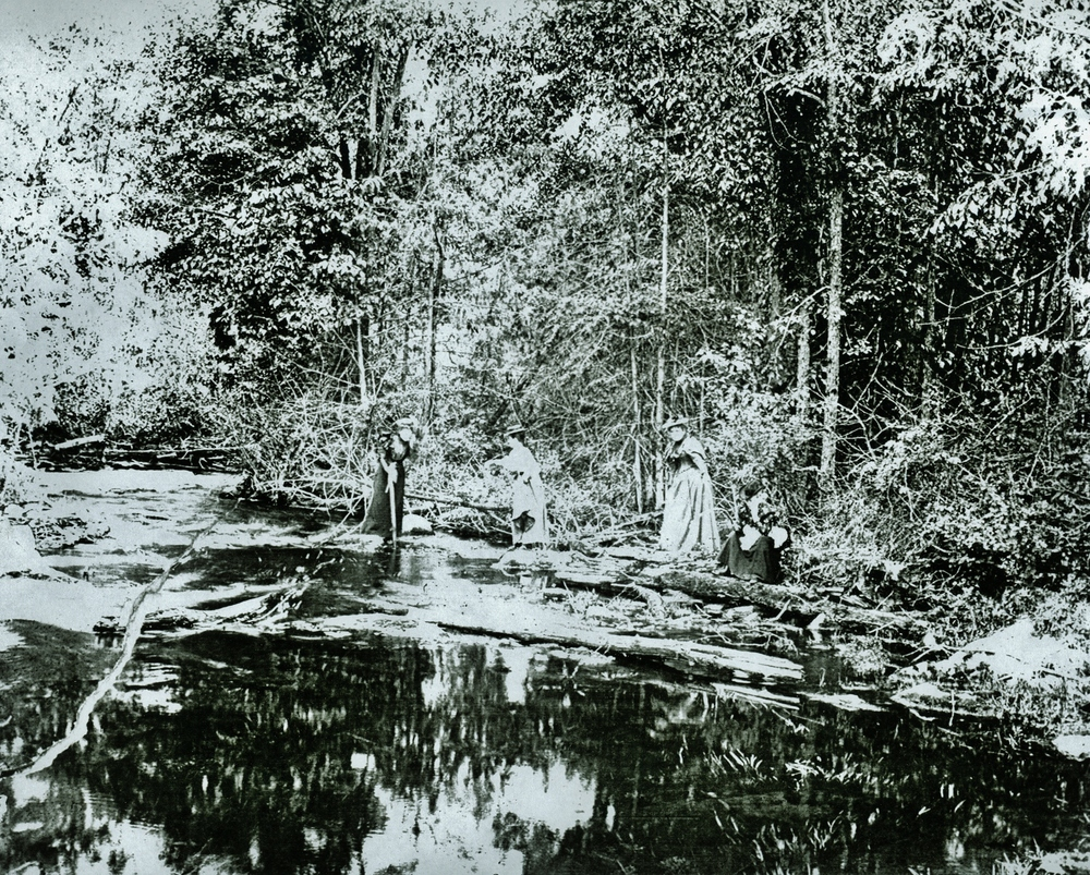 Rawdon Creek near Wellman's corners,  Emily Parker,  Lou Judd,  Julia Pearce,  Jan Vandervoort,  June 2,  1894