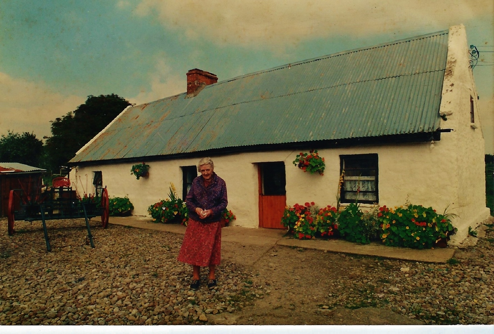 Mary Rohan in 1995 at   Hermitage, (c.1829) Castleconnell, Co Limerick,    (niece of Katie meyers and anne quinlan                  the rohan girls would have been born here and it is still in the family.