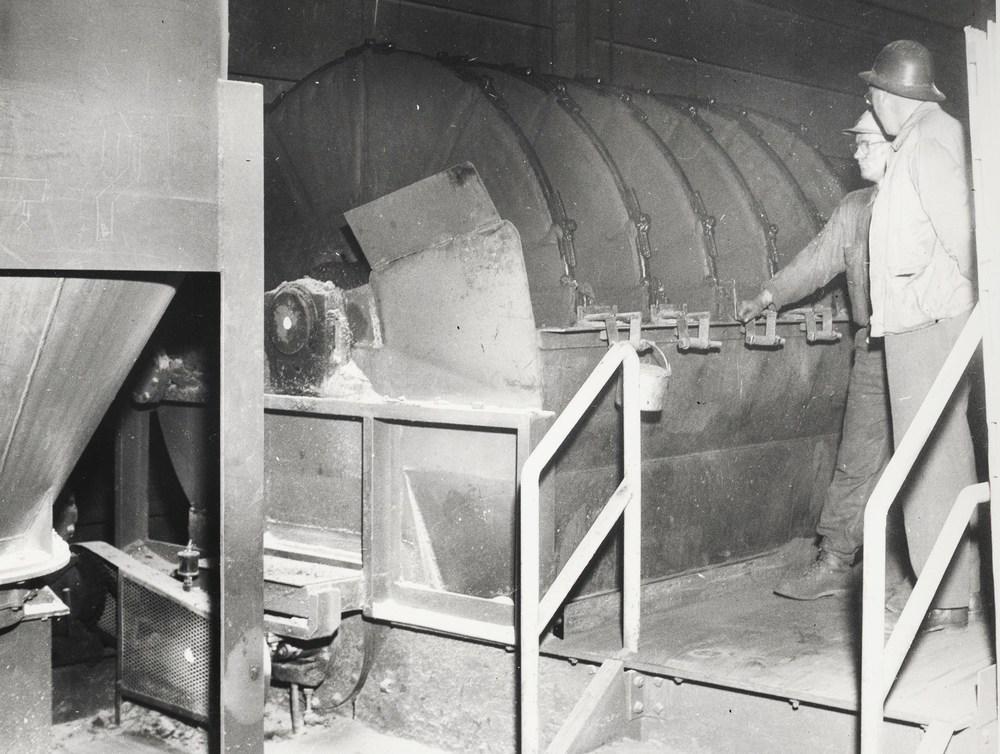 1956 Bentonite bin & disk filter, Harold Olson, Bob Barrons Marmoraton Mine