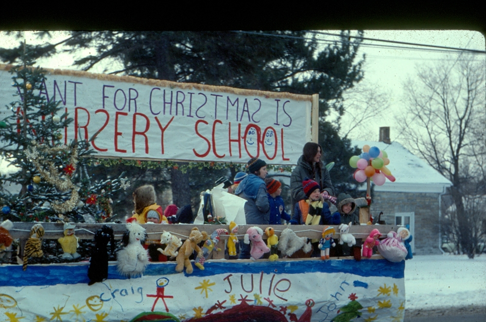 Events - Christmas Parade 1977 promoting new nursery school,  Anne Philpot.jpg