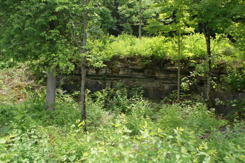 Quarry beside St. Matilda's Church on the Crowe River.  This church  is located south of the quarry pictured above.