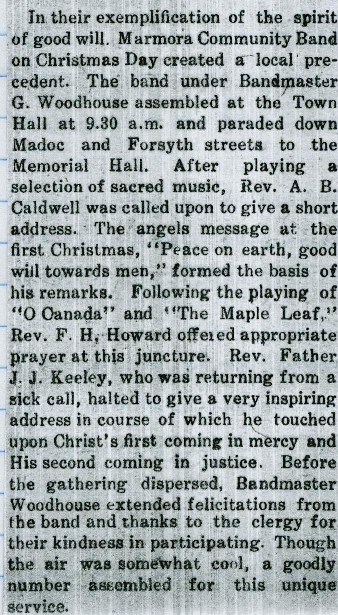 Marmora Herald Jan. 1, 1931
