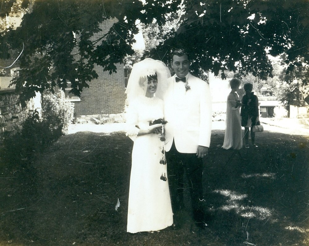 Darlene & Terry Clemens wedding July 19, 1969