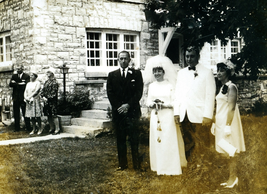 Darlene & TerryClemens wedding July 19, 1969 with Bill and Jean Richardson
