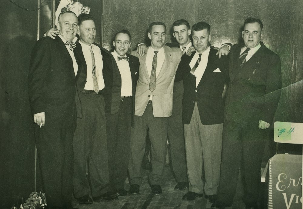 Bethlehem Union Execs. MacDonald, Fenton, Bell, Mantle, Osborne, Monk, Glen Derry