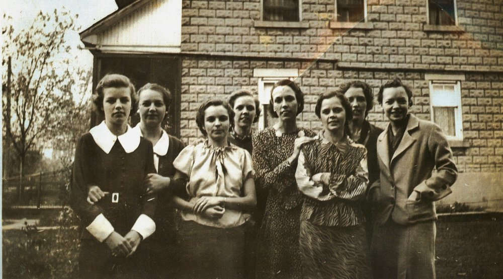 The Gaffney girls:   ,Lorraine, Anne, Eugena, Chloe, Helen, Kay, Margie, Madge