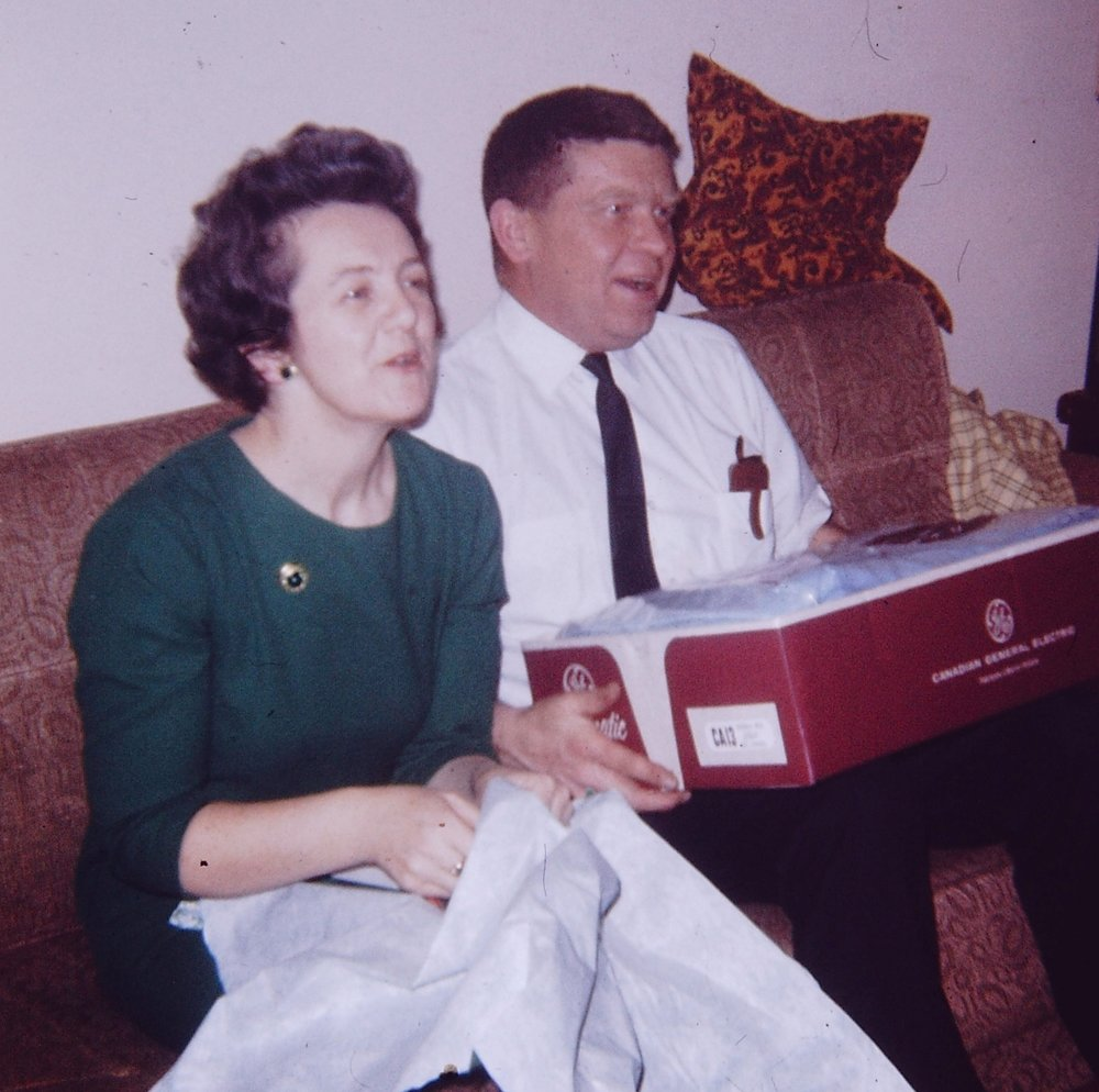Dot and Vaughan Glover retire, 1971 Party at VanVolkenburg's 1971