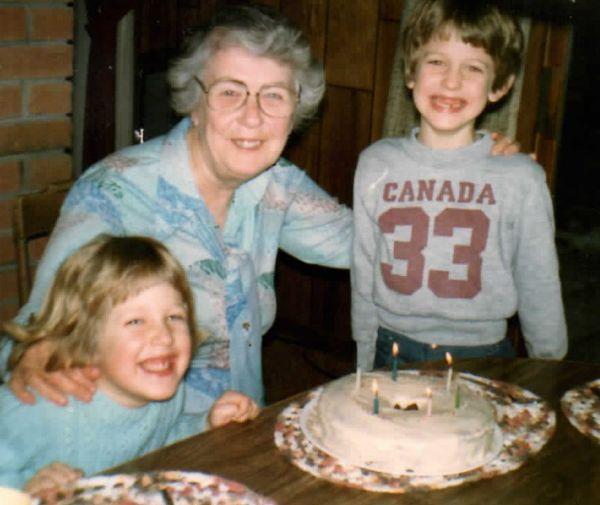 Matthew VanVolkenburg 7th birthday with Jane and Doris