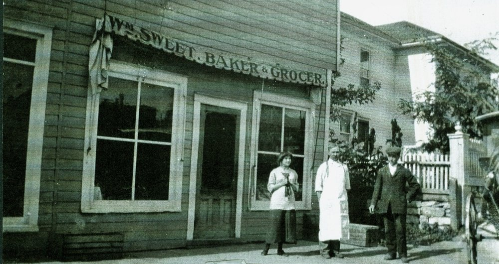 The original Sweet's bakery at 1 main street, next door to Dr. Jones' house, now the merkely residence