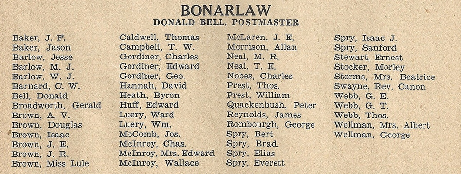 1941 Hastings Cty Directory Bonarlaw.JPG