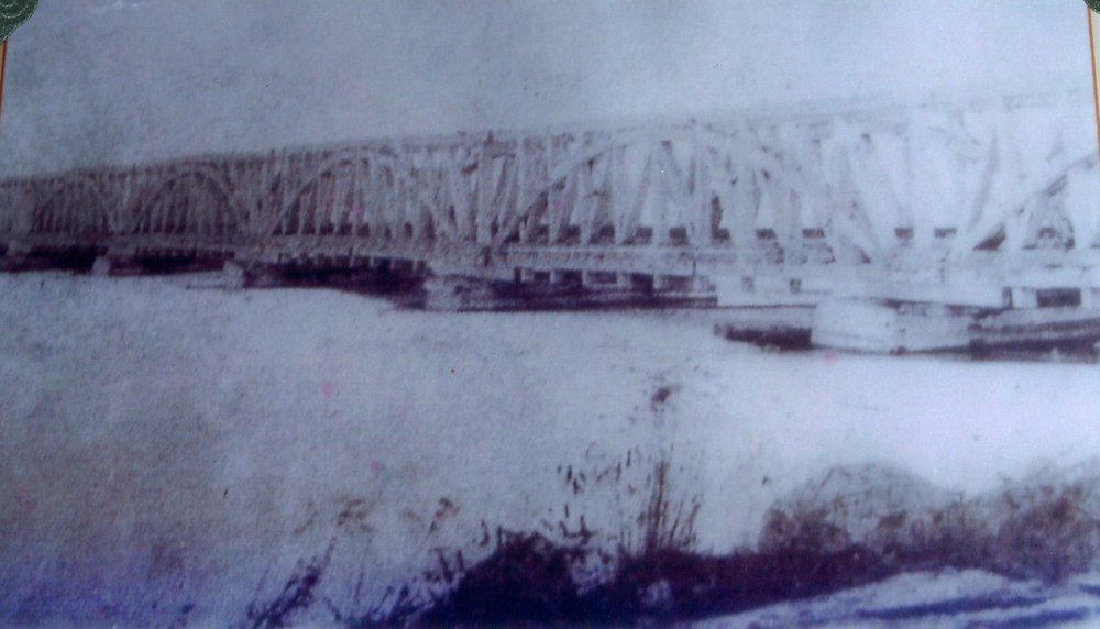 The tresstle bridge over Rice Lake at harwood