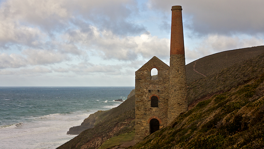 Tin Mine at St. Agnes Head Cornwall