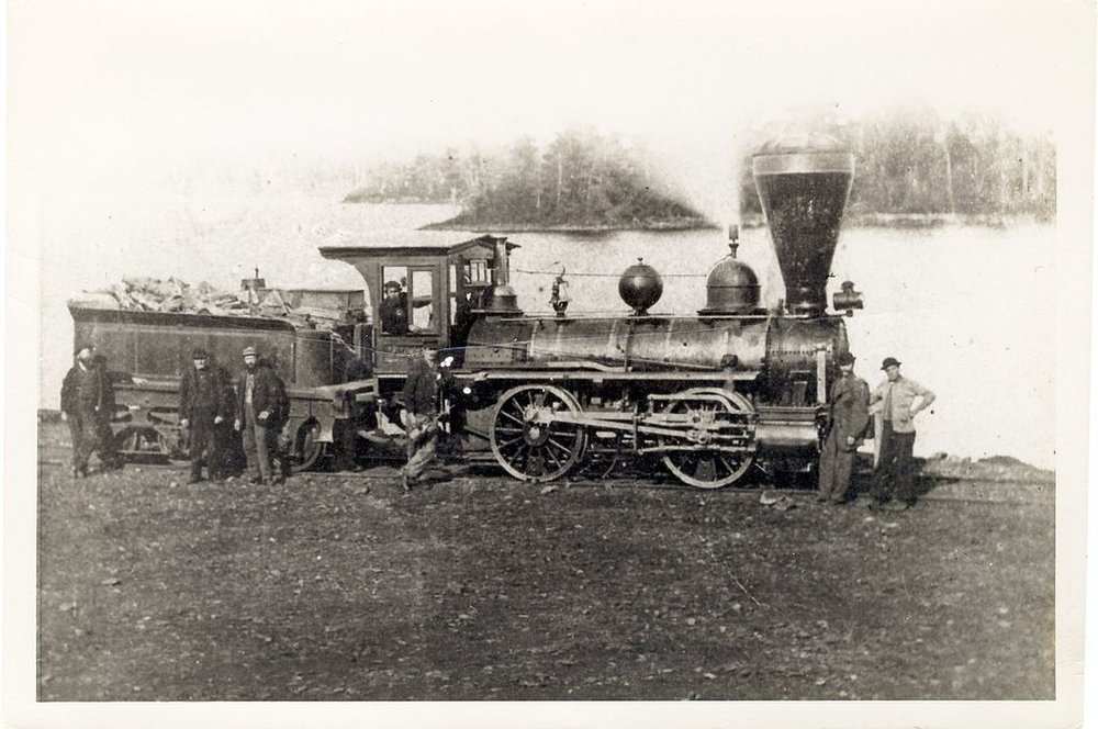 The Pioneer engine in Blairton