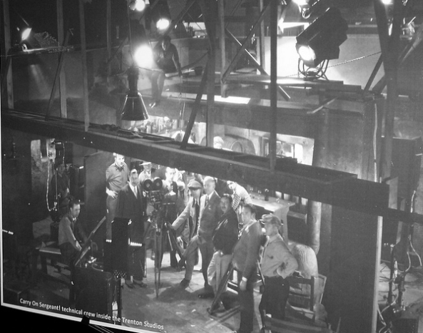 "1927 Trenton movie studio filming  ""Carry on Sargeant"""