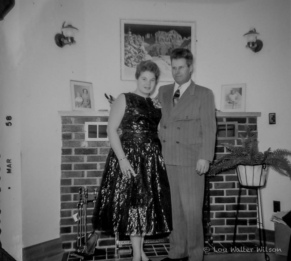 Carol Wilson and father Walter Wilson