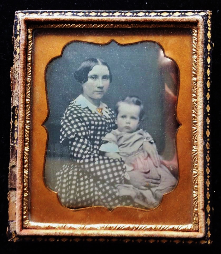 Mary Ellen Dampsey Shannon 1858-1941 and first child,  Anna Leah Shannon
