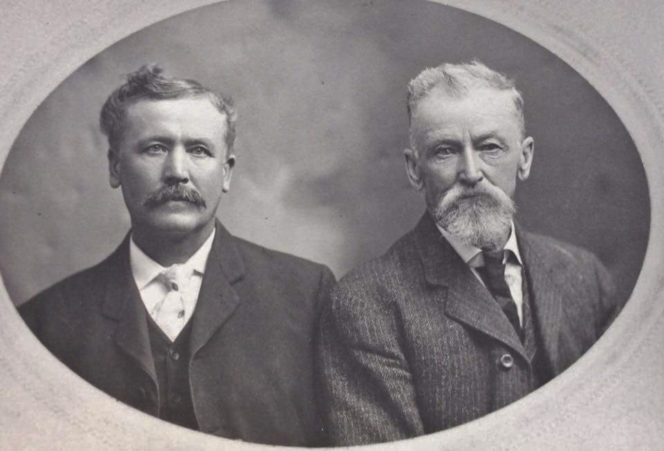 Patrick Crawford Shanon and his uncle James Crawford 1837-1883. James was the first of six members of the Crawford-Shannon families to emigrate to Seattle.
