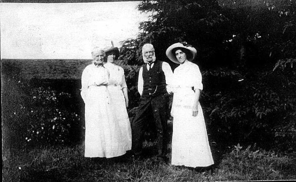 Margaret McVey nad Wm Nealon Sr. with two daughters