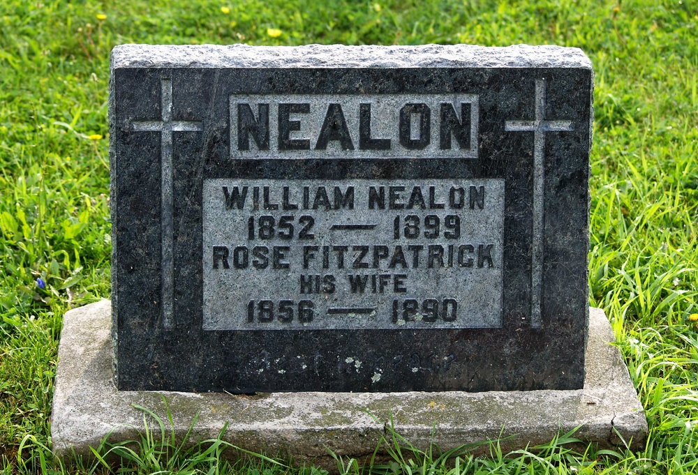 St. Mary's Roman Catholic Cemetery,  Campbellford,   William Nealon's date of birth and death should read 1851-1897