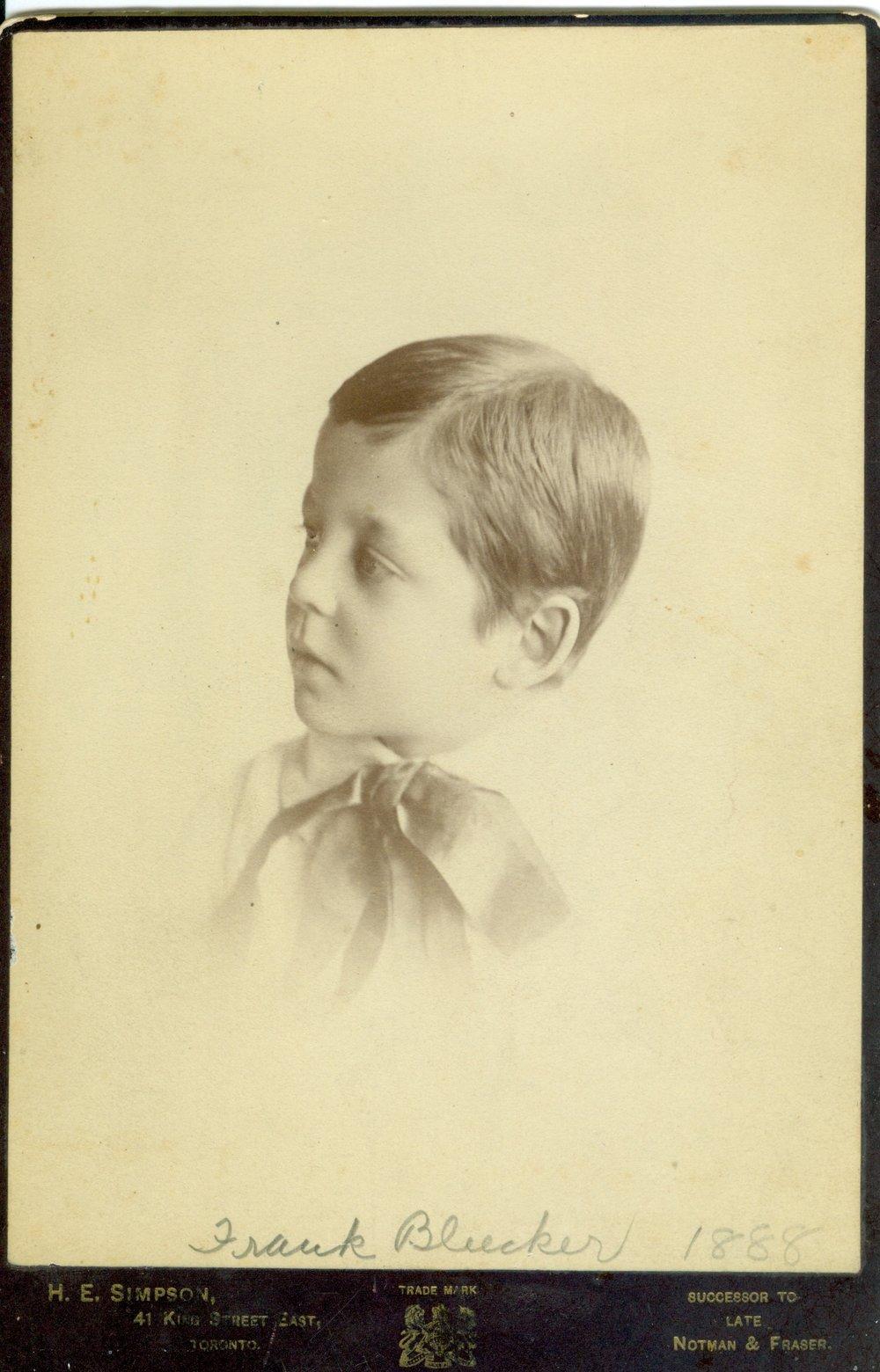 Frank Bleecker 1888