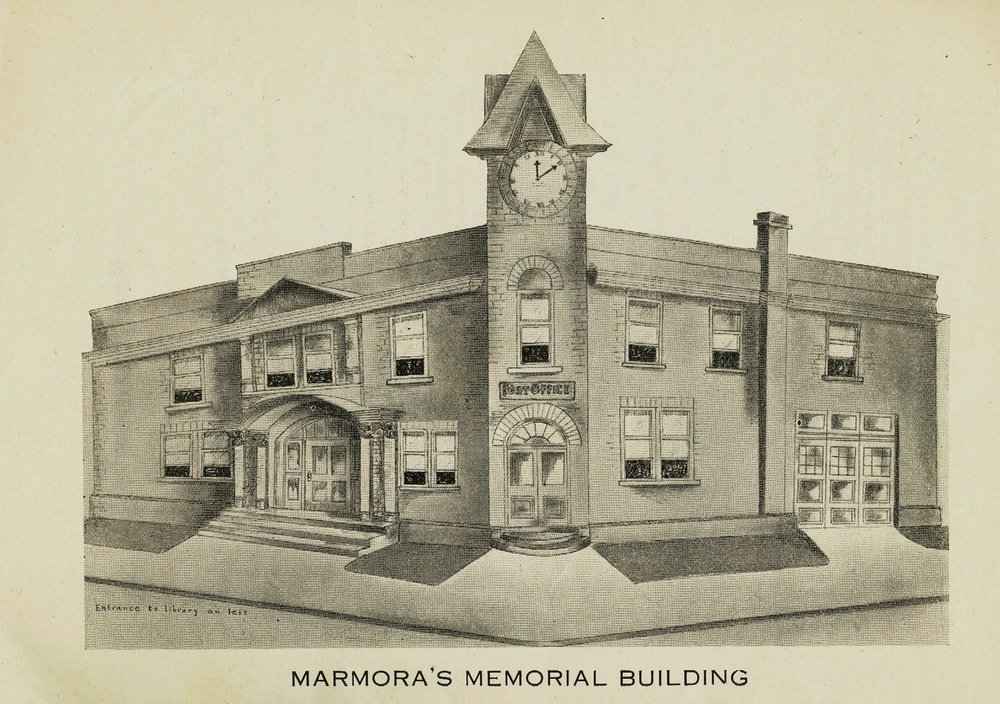 Marmora Business,  Library,  War memorial building.jpg