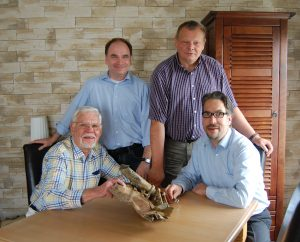with Sven of German archaeologists with Sven Polklaser on the right