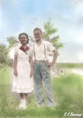 "Everett George (""Barney"") Barrons, Marion Gertrude Vincent  married  1943"