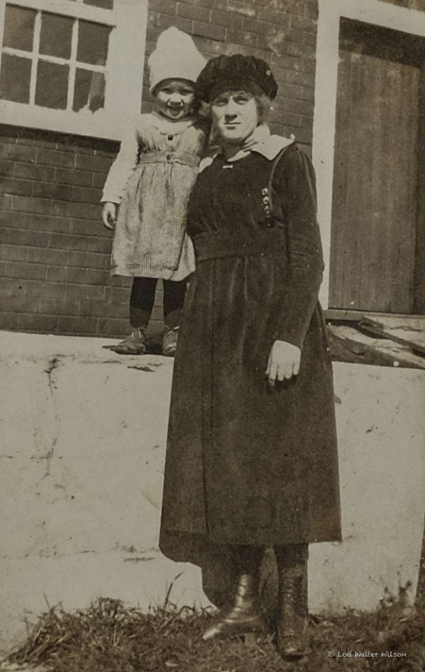 Photo taken by my Grandmother of my mother Della 3 years old and her sister Laura age?. There were 11 siblings in this farming family spread over 28 years. Photo taken in 1920 on the Plane family farm outside Madoc Ontario Canada Della Wilson lived in Marmara from 1955 - mid 90's