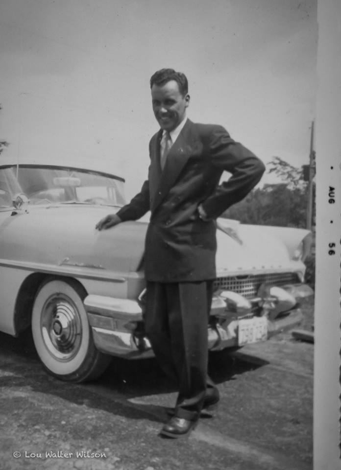 Gill and his brand new 1956 Mercury Monarch, Marmora Ontario Canada photo taken at Wilson residence on Matthew St (#7 Highway) He was a boarder with us for a few months in the 50's