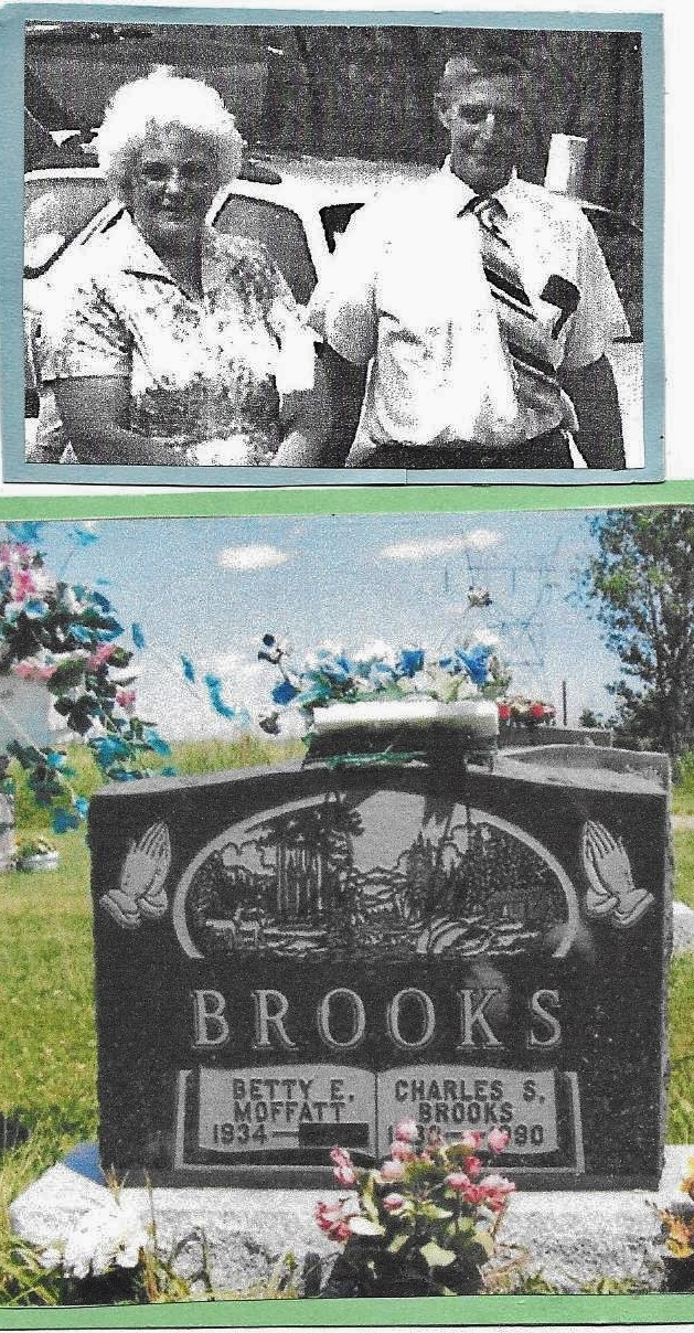 Betty and Stan Brooks Gravestone,  Beaver Creek Cemetery (Marmor.jpg