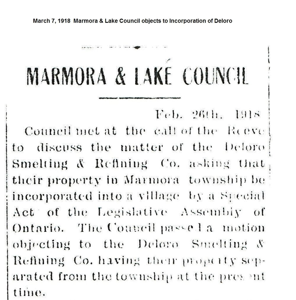 Marmora objection to Deloro Incorporation March 1918.jpg