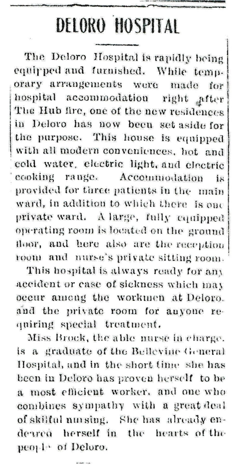 Deloro Hospital - Herald Apr. 17, 1919