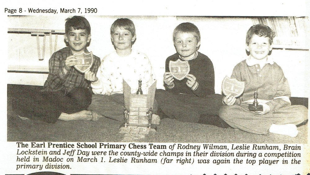 Earl Prenitce Chess Club, 1990