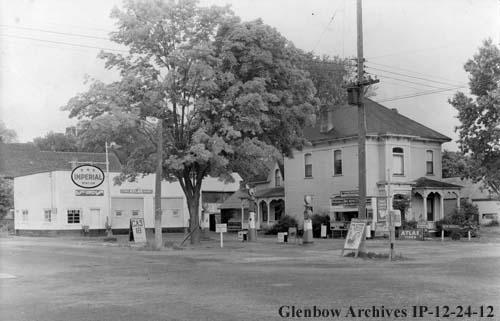 Dale-mCeLWAIN- rEEVES-sANDERSON Garage SE corner of Highways #7 & #14