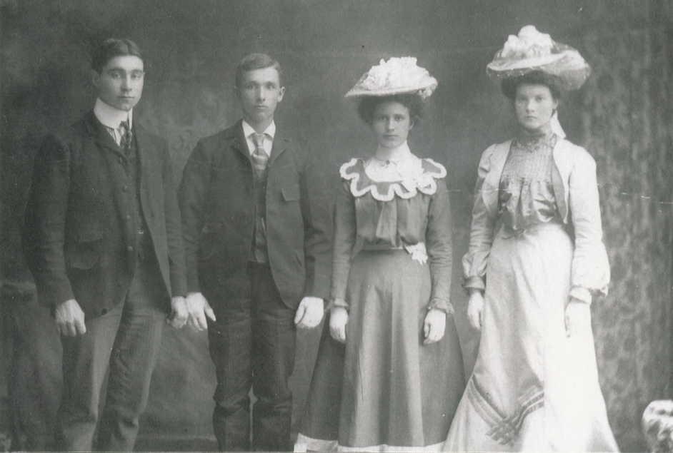 Mark McGarvey, George Albert Franklin, Ethel May Wilkes and Alice Maria Franklin.jpg