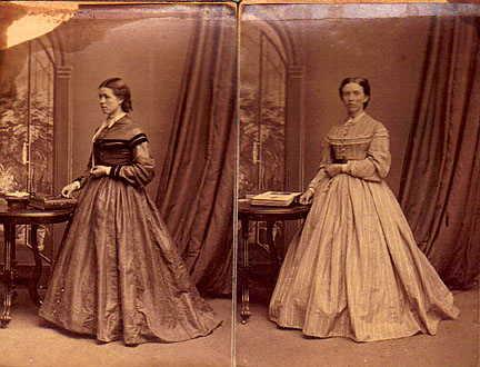 Lucinda Pearce Fowler (left) Jane Pearce Vanderhoof (right) 1867.jpg