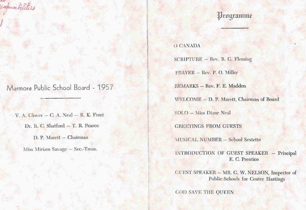 1957 Marmora Public school board.JPG