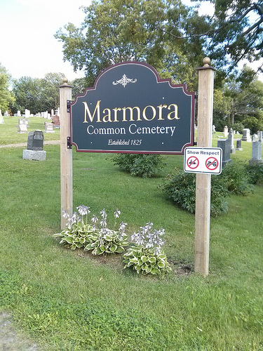 Marmora common cemetery sign.jpg