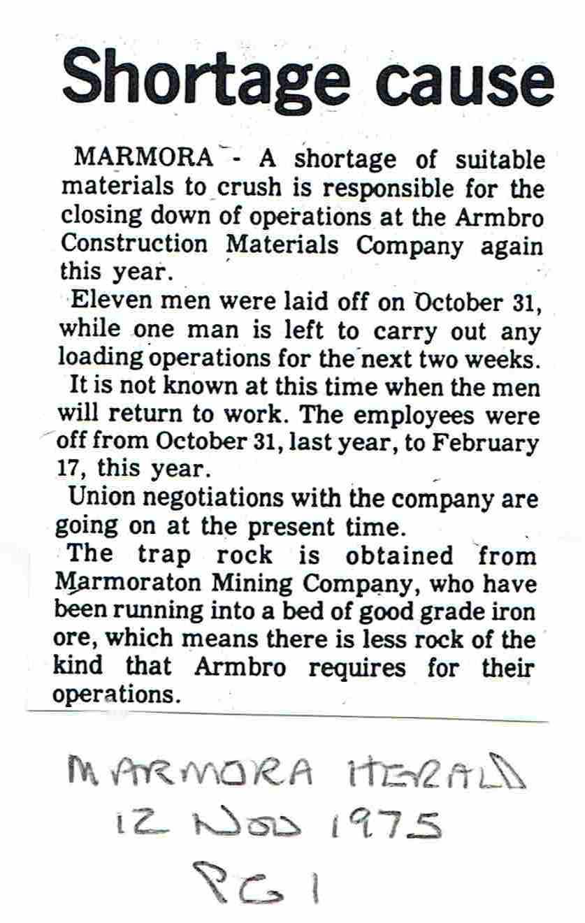 1975 Armbro Construction