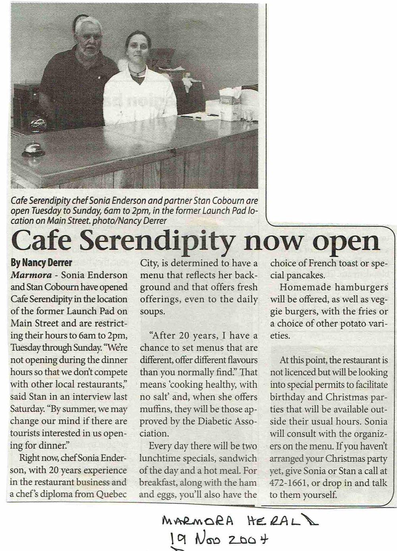 2004 Cafe Serendipidy, Cobourn, Enderson.JPG