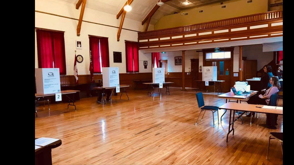 Election day at the own hall - October 2018