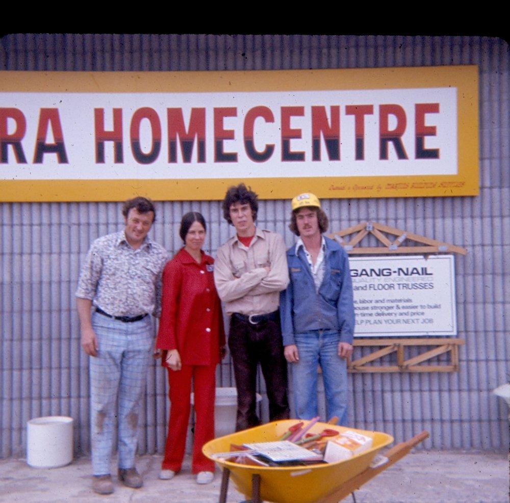 1977, Dan Bateman, Audrey Bateman, Russell Coens & unknown.