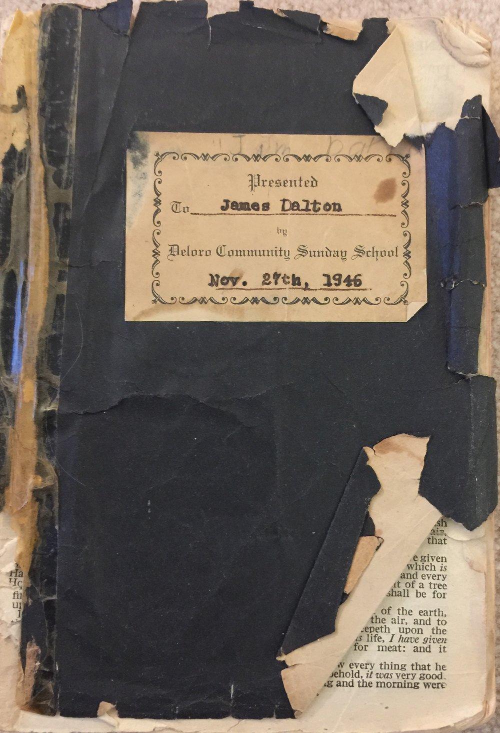 James Dalton Deloro Bible 1946.JPG