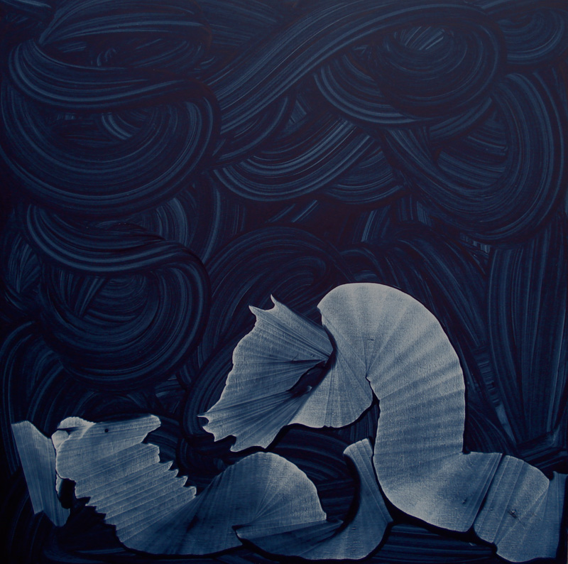 "A Sea Horse Love, Oil on Linen 56"" X 56"" (142cm X 142cm)  2011"